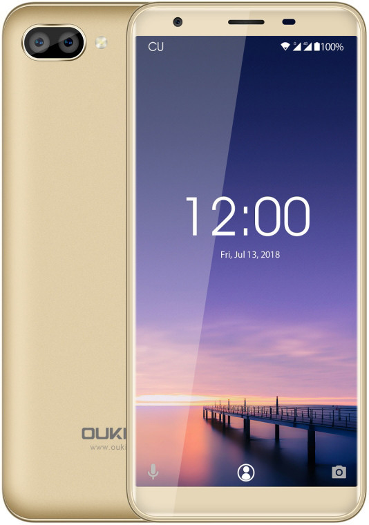"Смартфон Oukitel C11 1/8Gb Gold, 5+2/2Мп, 5.5"" IPS, 2SIM, 3G, 3400мАh, 4 ядра, MT6580"