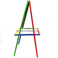 Мольберт детский двухсторонний магнитный разноцветный для маркеров, магнитов и мелков, фото 2