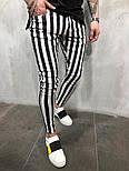 😝 Мужские штаны в черную полоску (зебра), фото 2