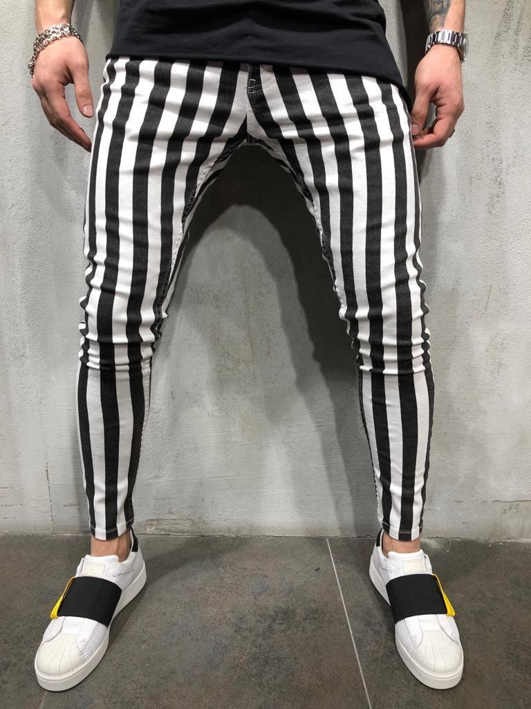 😝 Мужские штаны в черную полоску (зебра)
