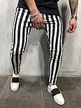 😝 Мужские штаны в черную полоску (зебра), фото 3
