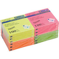Бумага для заметок NEON, 76х76 мм, 100 листов, в ассортименте