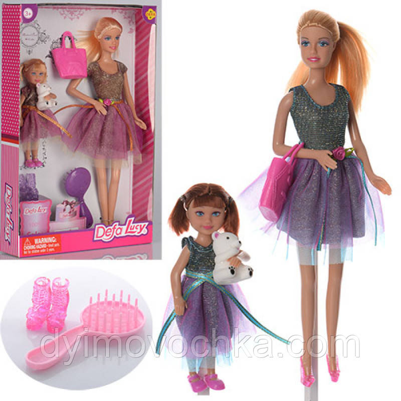 Игровой набор кукла с дочкой Defa 8304