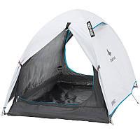 Палатка купольная 2-местная туристическая, самонесущая конструкция с дугами (темная ткань внутри)