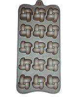 """Силиконовая форма для шоколада / льда """"Плетенки"""" ЕМ 7152 Empire"""