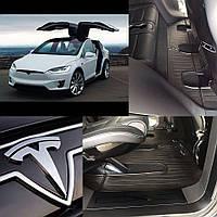 TESLA Model X (7 seats) 2015- Комплект из 4-х ковриков Черный в салон