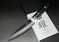 Купить нож кухонный японский Yaxell Yo-U 37 Damascus Petty 120мм