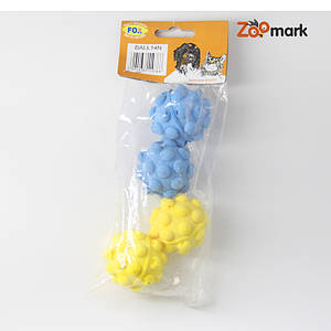 Mяч зефирный мина одноцветный 4.5см 4шт