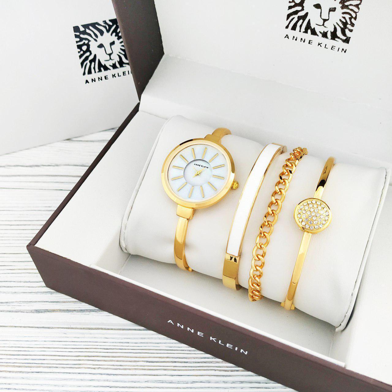 Наручные женские часы Anna Klein Gold-White
