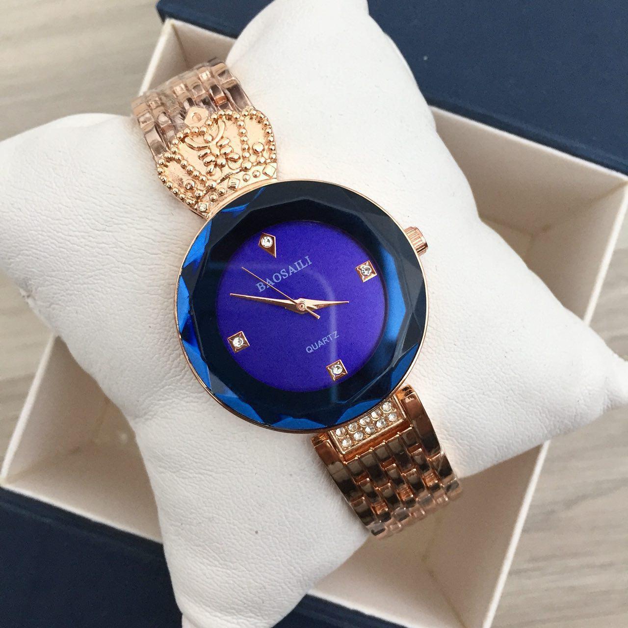 Наручные женские часы Baosaili Gold-Blue