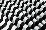 Отрез ткани с широкой чёрной полоской 25 мм на белом №1396, размер 58*160, фото 5