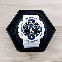 Наручные мужские часы Casio G-Shock GA-100 White-Blue-Black