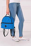 Синий полукруглый рюкзак MAX с абстрактным принтом, фото 1