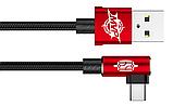 Кутовий Type-C кабель Baseus Elbow Type Cable 0.5 m - Black/Red, фото 2
