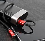 Кутовий Type-C кабель Baseus Elbow Type Cable 0.5 m - Black/Red, фото 4