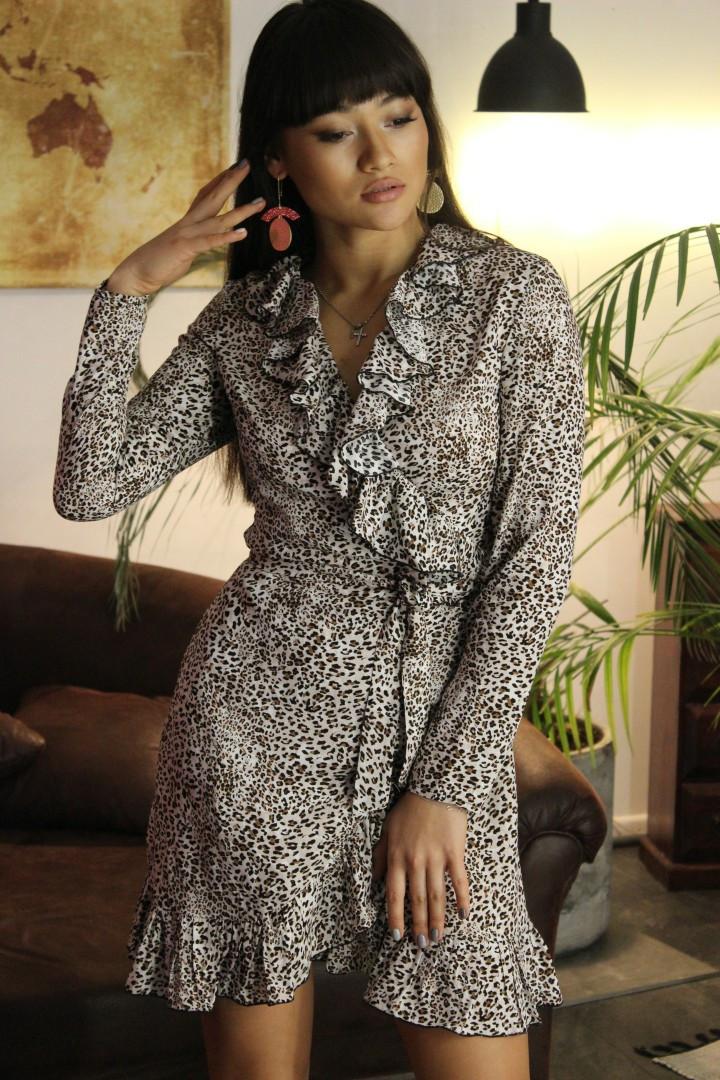 9757b650cd5 Леопардовое платье на запах - Магазин женской одежды и аксессуаров в  Украине - Annika.com