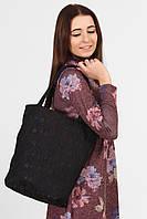 Черная гипюровая сумка-тоут TORBA