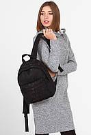 Черный гипюровый рюкзак mini Street