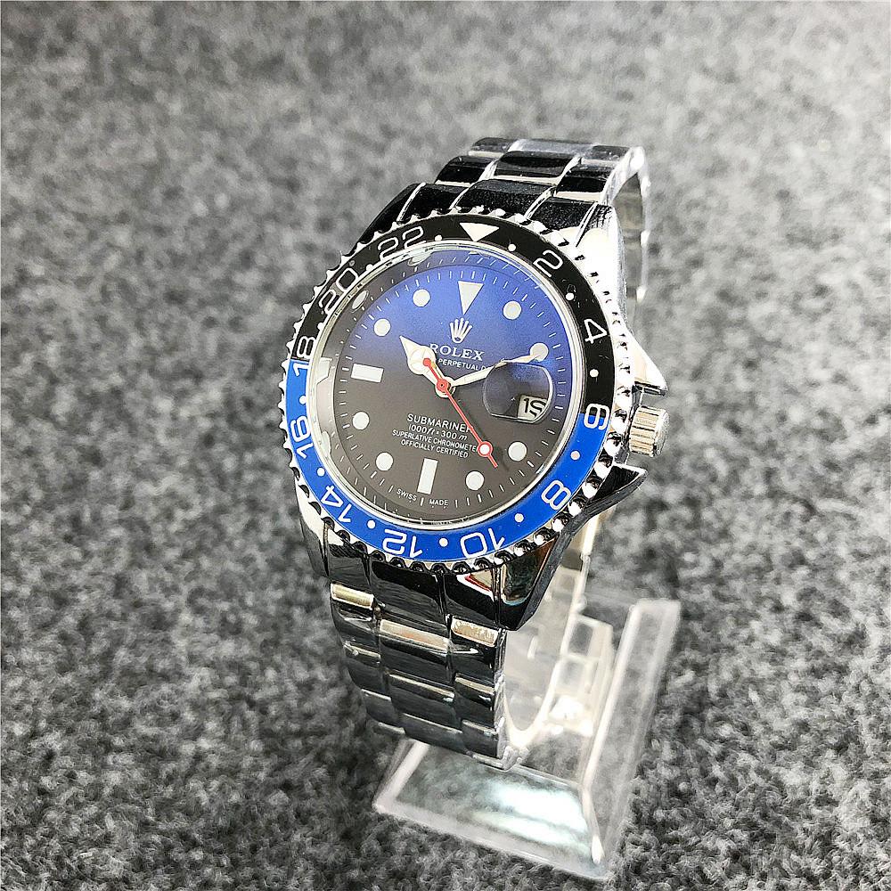 Наручные мужские часы Rolex Submariner 6478 Silver-Black-Blue-Black