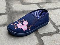 Мокасины детские джинсовые (31-36) Украина, фото 1