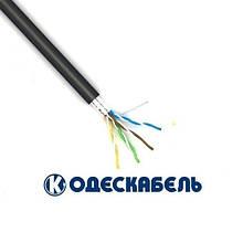 Lan-кабель екранований для зовнішньої прокладки F/UTP cat.5e КППЭ-ВП (100) 4x2x0,51 (Одескабель)
