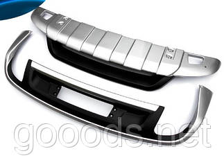 Накладки для защиты бампера Volkswagen Touareg 2010+