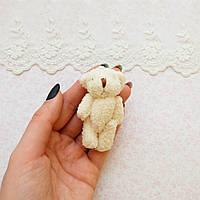 Мягкая Игрушка Медвежонок 6.5 см МОЛОЧНЫЙ, фото 1