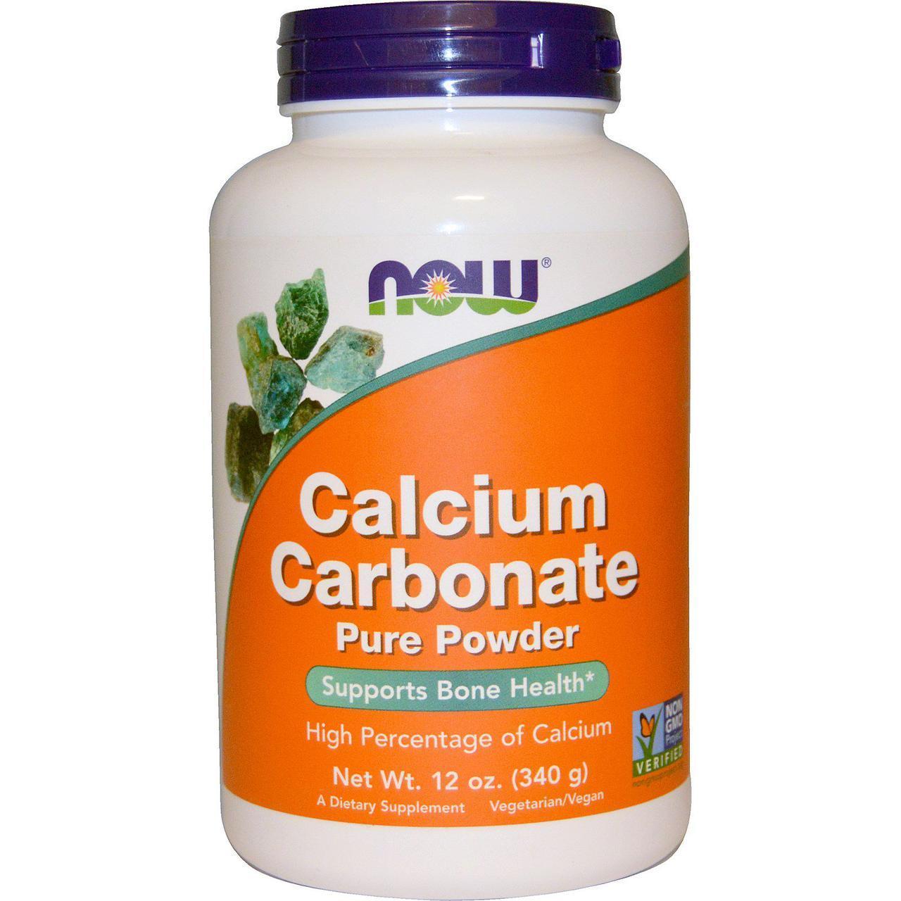 Now Foods, Карбонат кальция в порошке, (340 г)