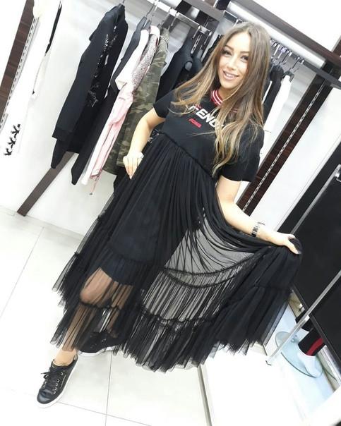 Легкое платье с фатином