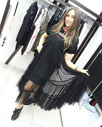 Легкое платье с фатином Fendi
