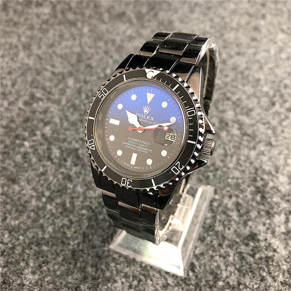 Наручные мужские часы Rolex Submariner 6478 Black-Black-Blue