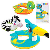 Детский надувной круг для плавания Животное 59220 Intex