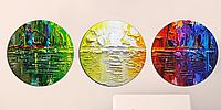 Картина Круглая 3 модуля Абстракция