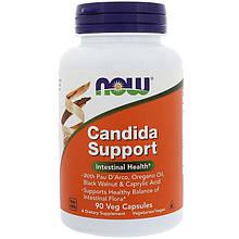 """Противокандидное средство NOW Foods """"Candida Support"""" здоровье флоры кишечника (90 капсул)"""
