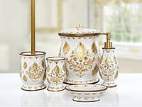 Комплект в ванную Irya - Dora gold золотой (5 предметов)