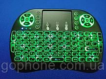 Беспроводная мини клавиатура с подсветкой MWK08/i8 LED  (green), фото 3