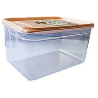 Контейнер Flexy Box прямоугольный 1,3 л прозрачный крышка оранжевая Irak Plastik
