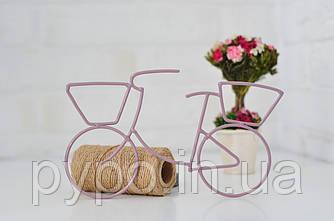 Подвеска декоративная Fibona Велосипед з корзиной  20х10 см.
