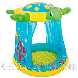 Детский надувной игровой центр с навесом Черепаха 52219  Bestway, 109х96х94 см