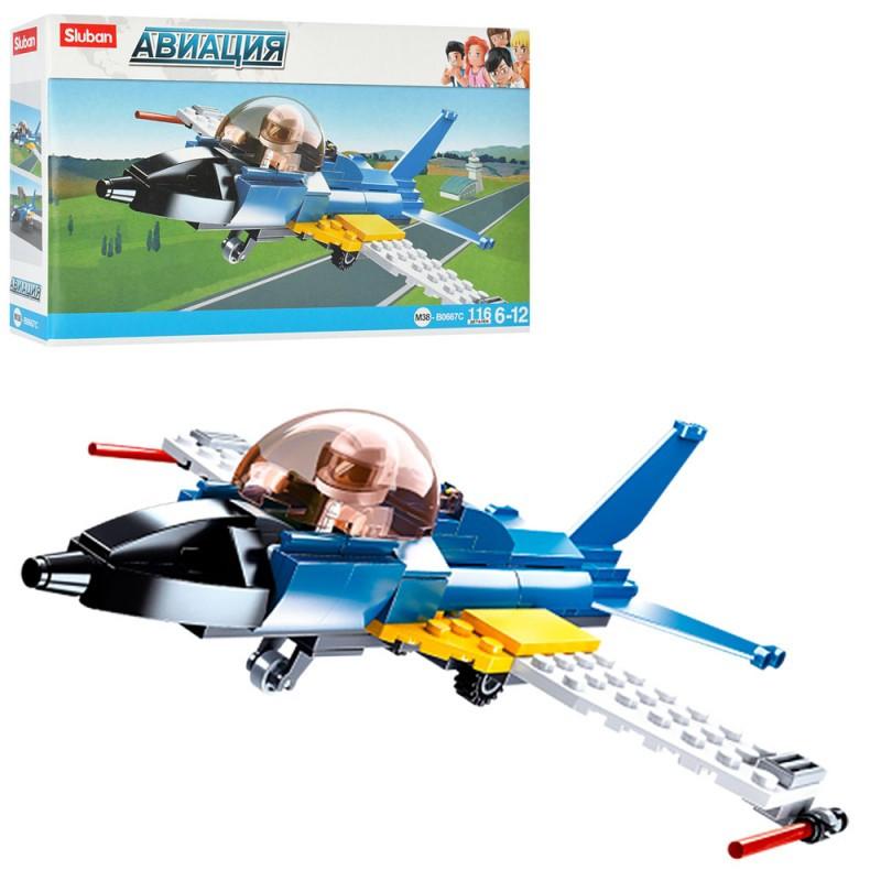 """Конструктор SLUBAN M38-B0667C """"Авіація"""" літак, фігурка, 116 елементів"""