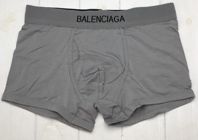 БОКСЕРЫ Мужские трусы шортики СЕРЫЕ Balenciaga Баленсиага  Хлопок , чоловічі труси боксери