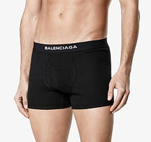 БОКСЕРЫ Мужские трусы шортики СЕРЫЕ Balenciaga Баленсиага  Хлопок , чоловічі труси боксери, фото 3