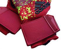 Вратарские перчатки Adidas pro 120 красно-салатовые, фото 3