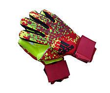 Вратарские перчатки Adidas pro 120 красно-салатовые, фото 2