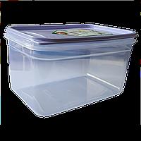 Контейнер Flexy Box прямоугольный 1,3 л прозрачный крышка сиреневая Irak Plastik