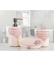 Комплект в ванную Irya - Julian pembe розовый (3 предмета)