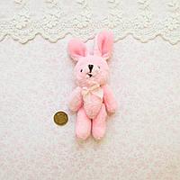 Мягкая Игрушка Кролик 11 см с ушками РОЗОВЫЙ, фото 1