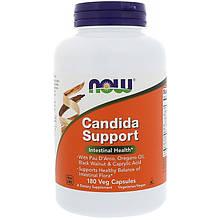 """Противокандидное средство NOW Foods """"Candida Support"""" здоровье флоры кишечника (180 капсул)"""