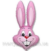Мини-фигура 41х24 см Кролик розовый Flexmetal Испания шар фольгированный