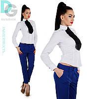 Женские классические брюки дудочки (красный, синий, бирюза, желтый, черный)